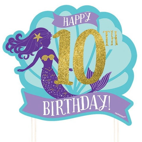 Mermaid Wishes Customisable Cake Decoration - 25cm