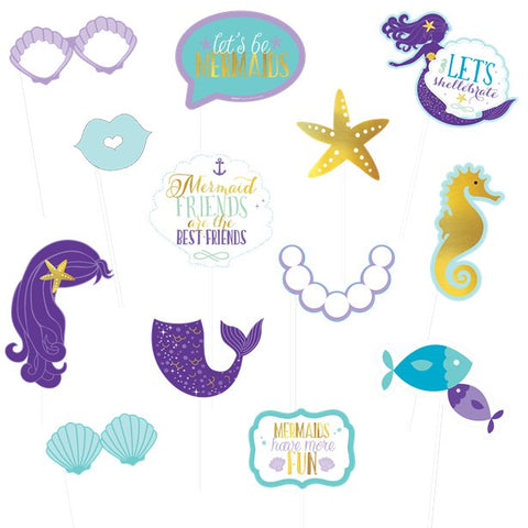 Mermaid Wishes Party - Photobooth Props