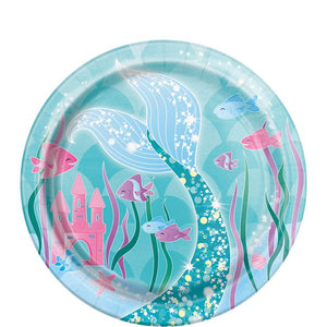 Magical Mermaid Party - Small Dessert Paper Plates 17cm