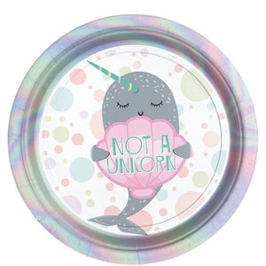 Narwhal Party Plates - 8PK