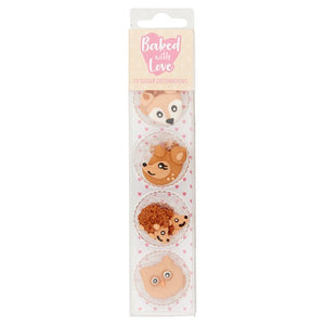 Woodland Creatures Cupcake Decorations - Sugar - 10PK