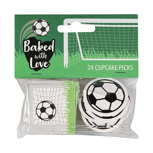 Football Cupcake Picks - Baked with Love - 24 Pack