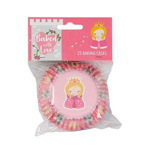 Princess Foiled Cake Cases - Baked with Love - 25pk