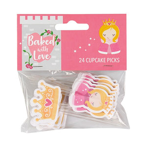 Princess Cupcake Picks - Baked with Love