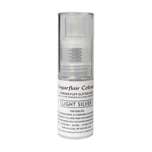 Powder Puff Glitter Dust Spray - Light Silver 10g
