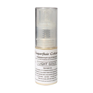 Powder Puff Glitter Dust Spray - Light Gold 10g