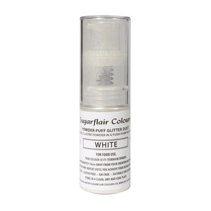 Powder Puff Glitter Dust Spray - White 10g