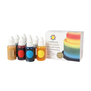Alcohol Free Airbrush Colour Collection - 8 Bottles - Sugarflair