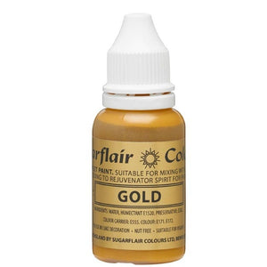 Sugarflair Sugartint Droplet Colour - Gold (14ml)