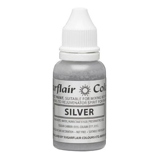 Sugarflair Sugartint Droplet Colour - Silver (14ml)