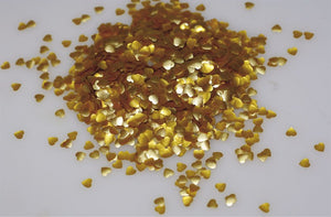 Rainbow Dust Edible Glitter Gold Hearts - 1.4g
