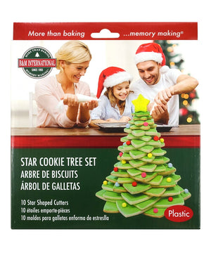3D Star Christmas Tree Plastic Cookie Cutter Set