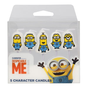 Despicable Me Minion - Cake Candles - 5 PK