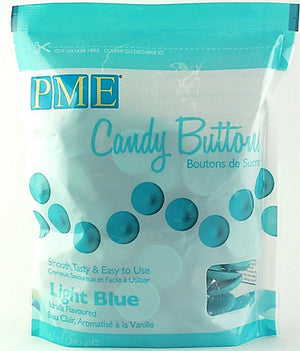 PME Candy Buttons - Light Blue 340g