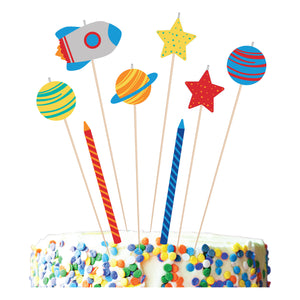 Space Birthday Candles - 8 pack: Blast Off Birthday by Amscan