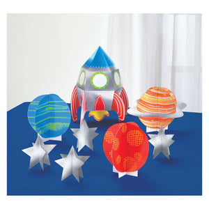 Centrepiece Table Decorations - 8 pack: Blast Off Birthday by Amscan