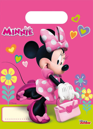 Minnie Mouse Happy Helpers Plastic Party Loot Bags