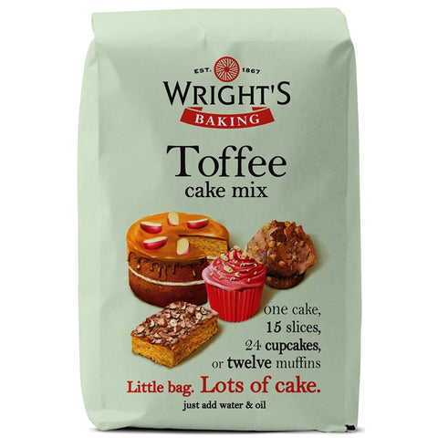Wrights Baking Toffee Cake Mix Mix 500g
