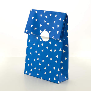 Party Treat Bags - Premium Blue with Silver Foil Finish (Pack 8)