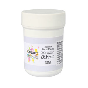 Colour Splash Edible Paint - Metallic Silver