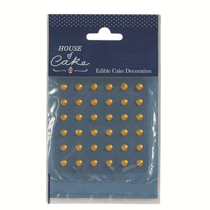 Jelly Studs - Gold 36pck