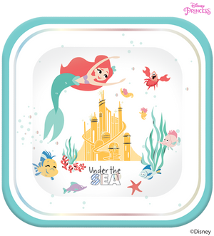 Disney Princess Ariel Under the Sea Party Large Square Plates