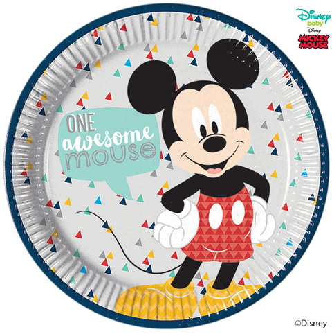 Disney Awesome Mickey Mouse Party Large Round Paper Plates