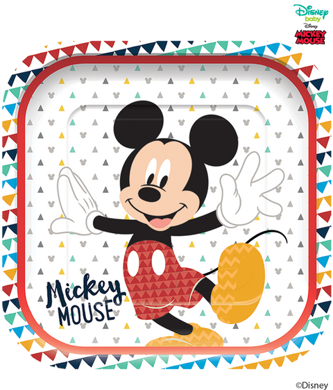 Disney Awesome Mickey Mouse Party Square Paper Plates