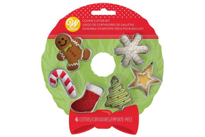 Wilton Mini Christmas Metal Cookie Cutters - Set of Six