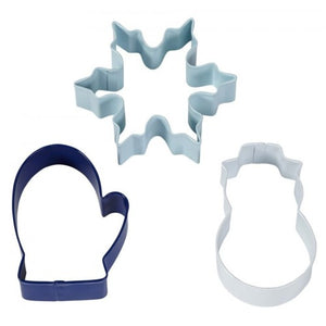 Wilton Christmas Holiday Cookie Cutter Set - Snowman - Glove - Snowflake