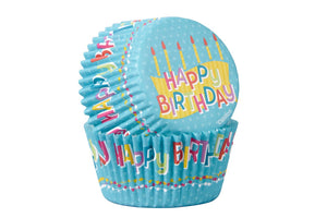 WILTON : STANDARD BAKING CASES - HAPPY BIRTHDAY - PACK OF 50