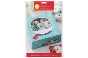 Happy Holidays Treat Boxes - Wilton -4 Pack
