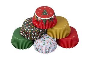 Wilton Christmas Assortment Baking Cupcake Cases Cups - 150 pack