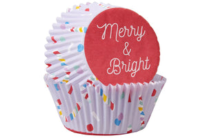 Wilton Standard Baking Cases - Merry & Bright - 75 Pack