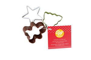 Wilton Mini Christmas Cookie Cutters - Set of 3