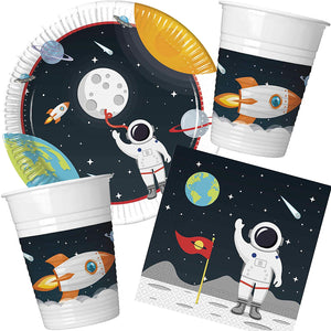 Space Theme Party Bundle Kids Party Astronaut Outer Space for 8 Guests
