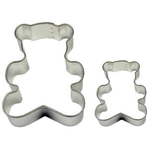 PME Teddy Cookie and Cake Cutters, Small and Large Sizes, Set of 2