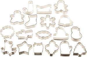 Wilton 18 Christmas Holiday Shapes Cookie Cutters