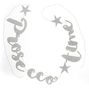 Prosecco Time Silver Stitched Garland