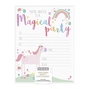 I believe in Unicorns Party Stationery - Invites and Thank you cards