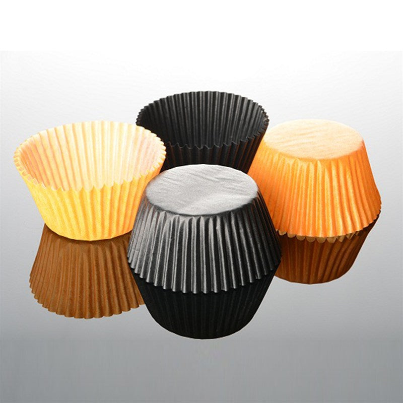 Black and Orange Baking Cases - Pack of 100