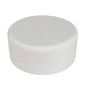 "Round Polystyrene Dummy - Bevelled Edge 3"" High"