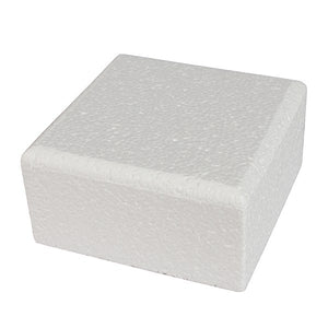 "Square Polystyrene Dummy - Bevelled Edge 4"" High"