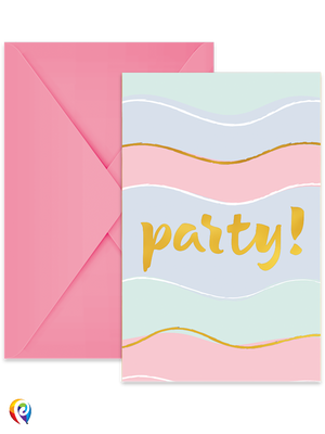 Elegant Party Invitations & Envelopes