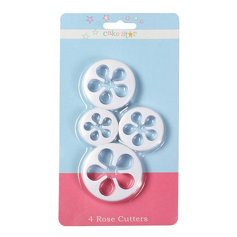 Cake Star Cutter - Rose 4 piece