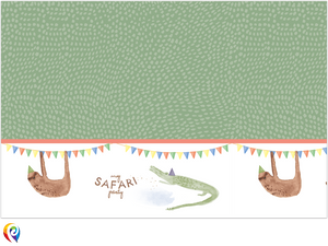 Safari Party Plastic Tablecover - 1.2m x 1.8m
