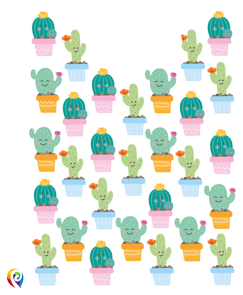 Cactus Party Treat Bags - Plastic Party Loot Bags