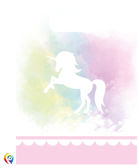 Believe in Unicorns Party Treat Bags - Plastic Party Loot Bags