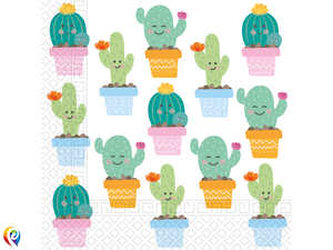 Cactus Party Lunch Napkins - 33cm 2-Ply Napkins