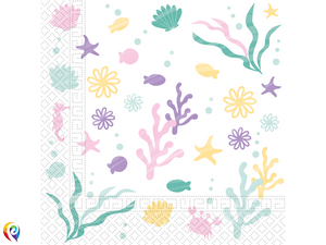 Party under the Sea Party Lunch Napkins - 33cm 2-Ply Napkins